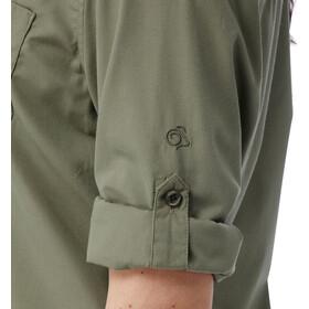 Craghoppers Kiwi overhemd en blouse lange mouwen Dames Long Sleeved olijf
